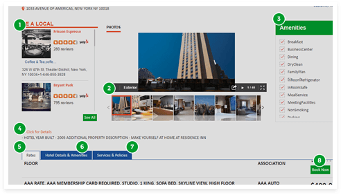Hotel detail page – Explore property in detail